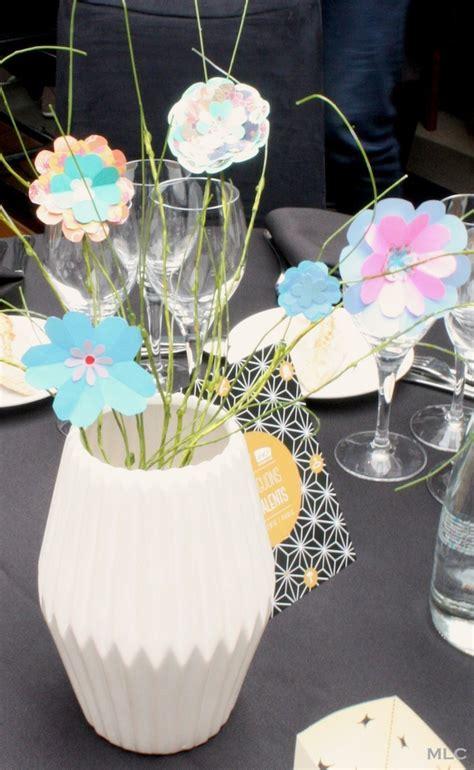 deco table fleur papier