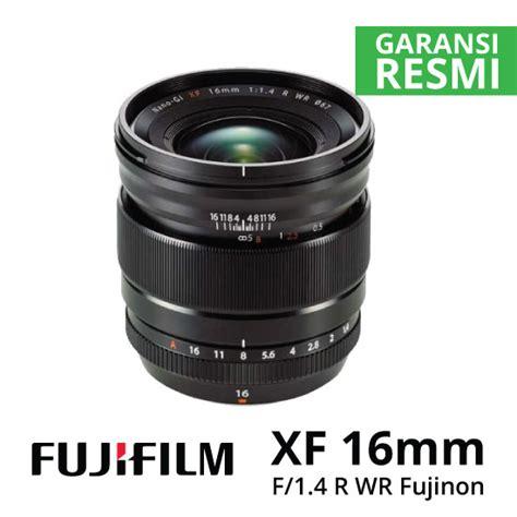 Fujinon Xf16mm F1 4 R Wr 16mm fujifilm xf 16mm f1 4 r wr fujinon harga dan spesifikasi