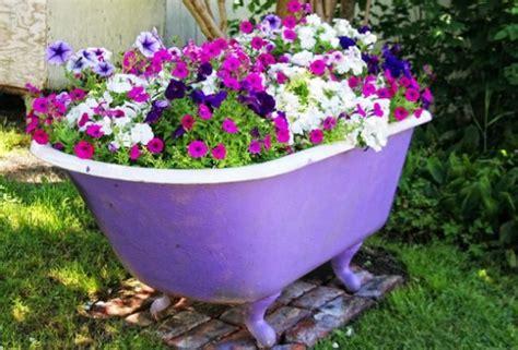 bathtub gardens using an old bathtub as a container in your garden a