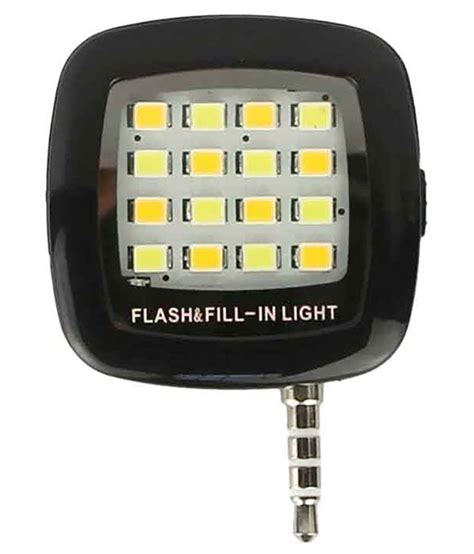 Led Selfie clickaway led selfie flash light black mobile enhancements at low prices snapdeal india