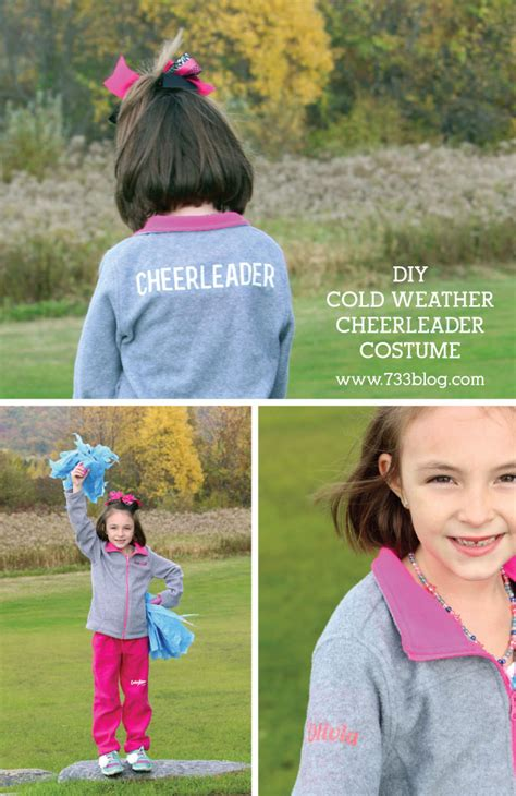 diy cheerleader costume  cold weather inspiration
