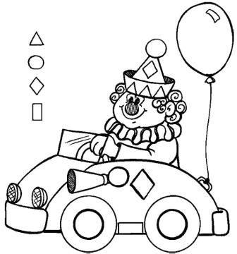dibujos de un payaso con figuras geometricas figuras geom 201 tricas para colorear payaso en coche web