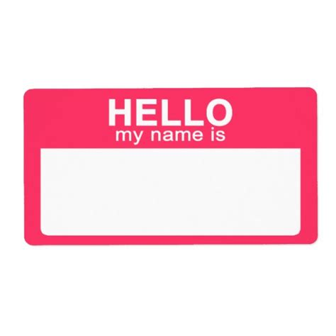 hello my name is template name tag template images
