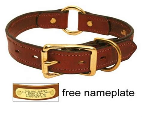 leather collar with nameplate leather collar with name plate 19 95 save 5 04