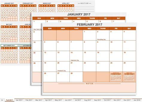 2017 calendar planner templates free printable