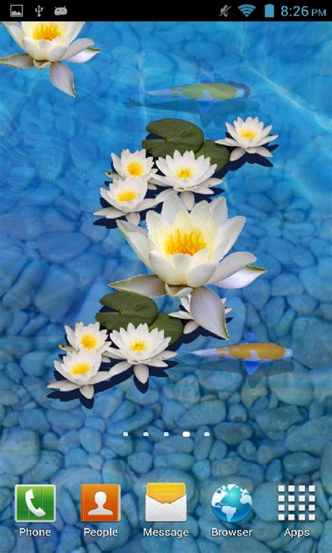 3d app for android free 3d fish pond live wallpaper apk for android