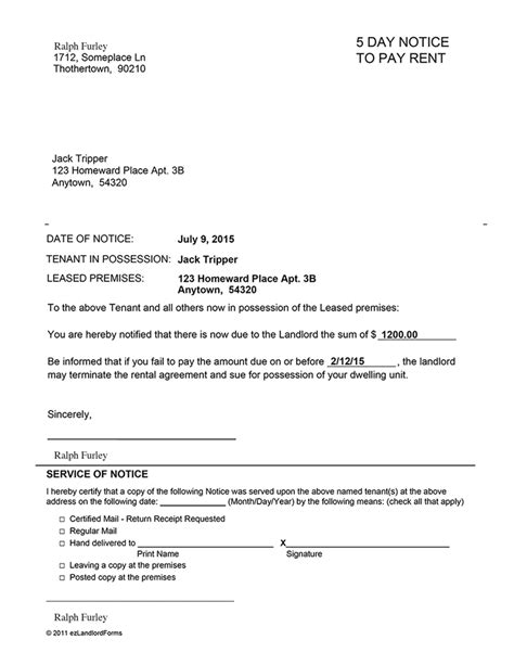 Eviction Notice Letter Template South Africa Eviction Notice Template Download Free Forms Eviction Notice Hawaii Template