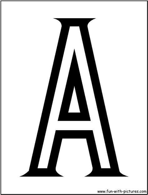 block letter coloring pages free printable colouring