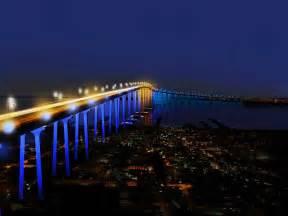 California Lights San Diego Coronado Bridge Lighting California