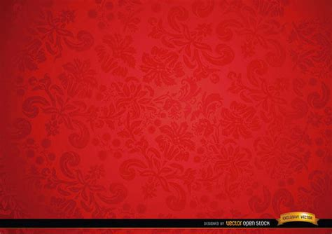 red floral ornament background design 123freevectors