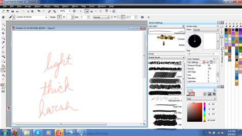 opacity in coreldraw x5 how do you create a pressure sensitive line corel photo