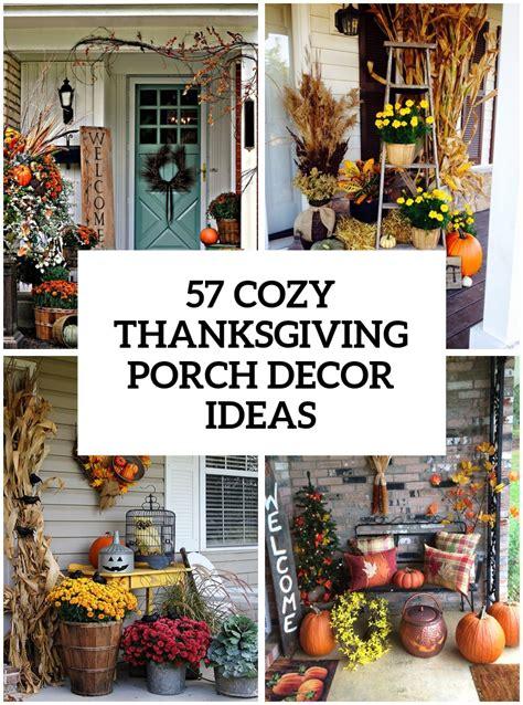 Thanksgiving Outdoor Decor 57 Cozy Thanksgiving Porch D 233 Cor Ideas Digsdigs