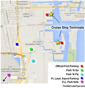 florida map port port everglades fort lauderdale cruise parking florida