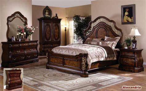 alexandria elegant solid wood traditional bedroom set  empire furniture design home decor