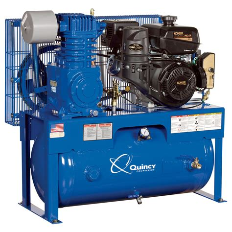 free shipping quincy qt 7 5 splash lubricated reciprocating air compressor 14 hp kohler gas