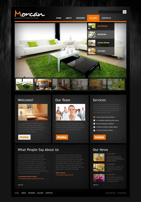 home interior design websites interior design website template 41200