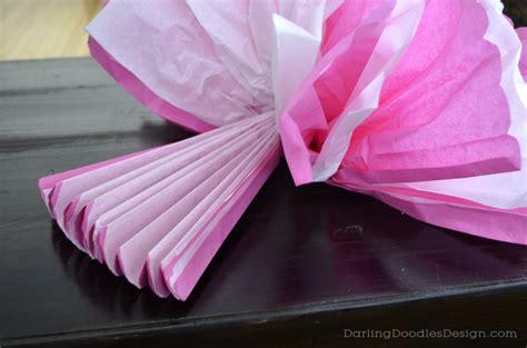 How To Make Tissue Paper Pom Pom Flowers - tissue pom pom tutorial doodles