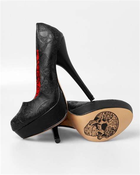 skull shoes black skull heels heels