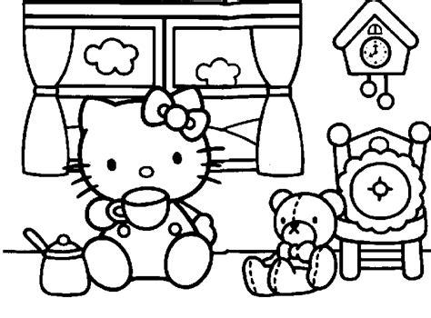 dibujos para pintar grandes dibujos para colorear de hello kitty grandes