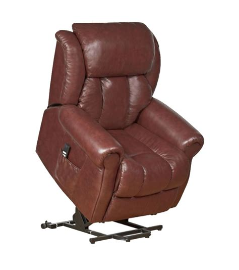 leather riser recliner gfa wiltshire dual motor riser recliner chestnut leather