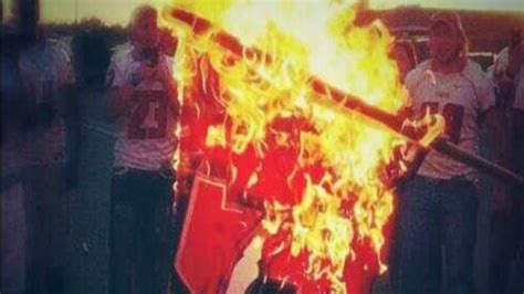 caught  camera yukon high school football players burn
