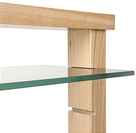 Open Shelving Wood Post Glass Shelf Gondola 16 Shelving Insert Slots
