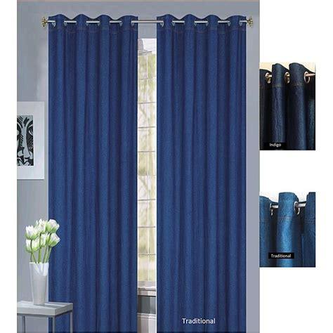 curtains 54 inches long capri denim 84 inch grommet panel pair