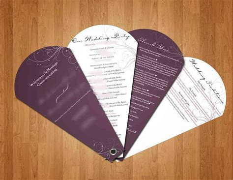 diy wedding program fans fun find fan programs aisle files