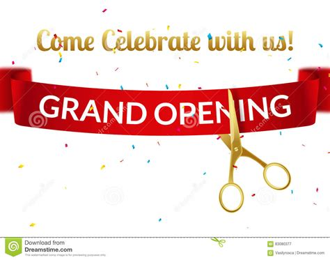 Grand Opening Invitation Template Free Templates Data Free Ribbon Cutting Template