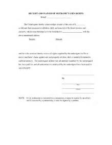 Lien Waiver Template by Bill Of Sale Form Illinois Satisfaction And Waiver Of