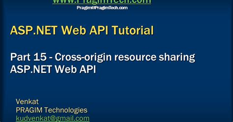 tutorial on web api sql server net and c video tutorial cross origin