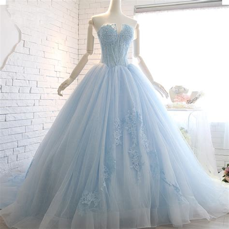 hochzeitskleid hellblau popular light blue wedding gown buy cheap light blue