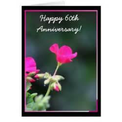 happy 60th anniversary geranimum greeting card zazzle