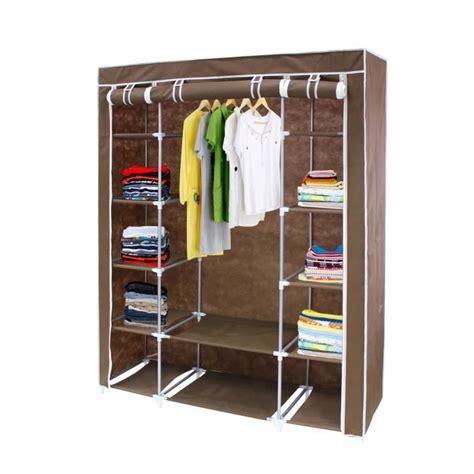 armoire en tissu but armoire penderie marron en tissu achat vente penderie mobile armoire penderie