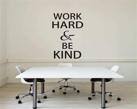 work hard  kind quotes wall decal motivational vinyl