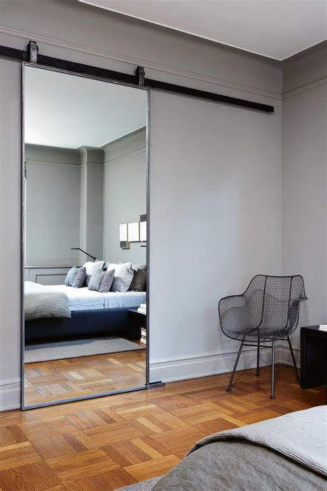 Bedroom Barn Doors Best 25 Sliding Mirror Doors Ideas On Mirrored Barn Doors Length Mirror