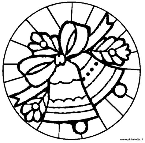 coloring pages christmas stained glass kerstmis kerst kleurplaten gratis te printen en kleuren