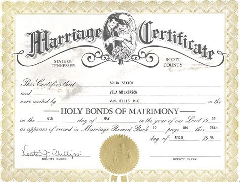 Tennessee Marriage License Records 302 Found