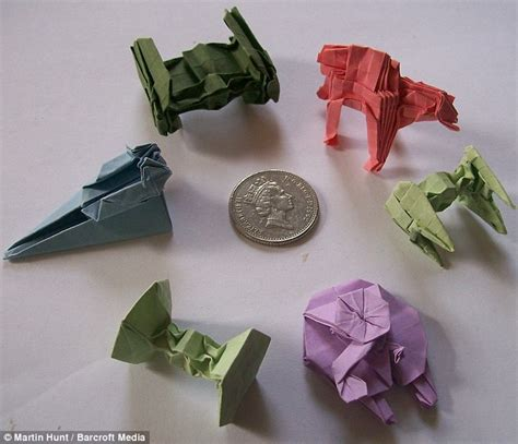Folded Paper Figures - may the folds be with you wars fan creates tiny