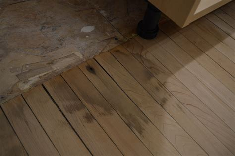 Hardwood Floor Water Damage Refinishing The Maple Kitchen Floor St Paul Haus