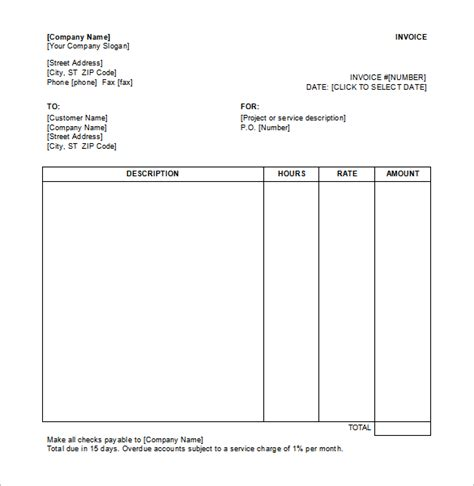 receipt of services templat service receipt template 9 free word excel pdf format