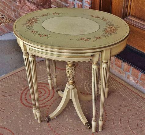 provincial nesting tables antique provincial duncan phyfe nesting tables