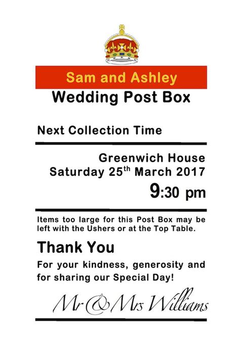 Wedding Card Letter Box by Personalised Royal Mail Post Box Wedding Card Your