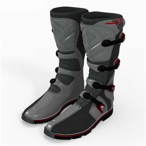 msr motocross boots msr racing mxt boots 3d model