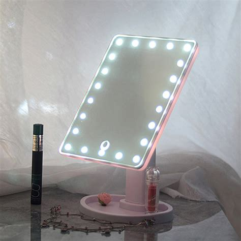 led touch screen makeup mirror tabletop cosmetic vanity