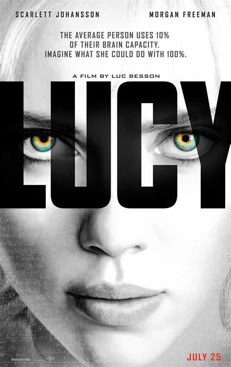 film review lucy 2014 lucy poster features scarlett johansson we are movie geeks