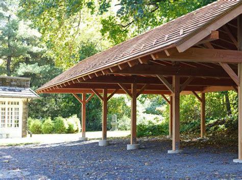 timber frame pavilion carport  large  spacious carport timber frame garage