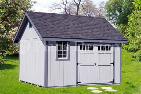 shed plans outdoor building blueprints    gable