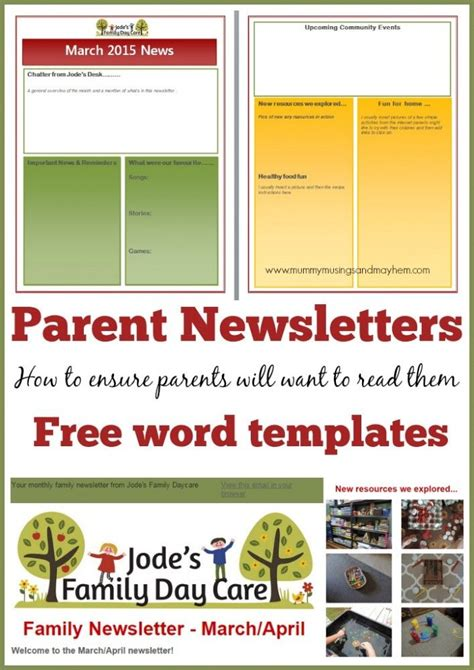 35 Best Images About Kids Newsletter On Pinterest Newsletter Ideas Class Newsletter And Early Childhood Newsletter Templates