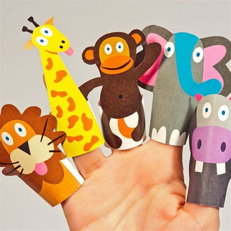 How To Make Animal Puppets For With Paper - best photos of printable animal finger puppets printable